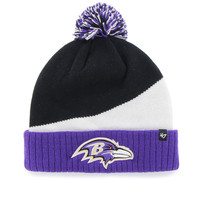 47 Brand - Ravens Black Rockhead Cuff Knit w/ Pom - Black/ Purple