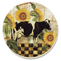 Farmland Cow Absorbent Coasters Set of 4 By Counter Art