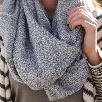 Forever Darling Infinity Scarf - Grey