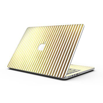 The Golden Vertical Stripes - MacBook Pro with Retina Display Full-Coverage Skin Kit