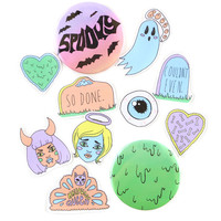 Spooky Goodie Bag Sticker + Button Pack
