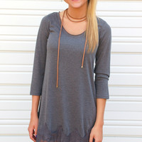 Living On Lace Dress-Grey
