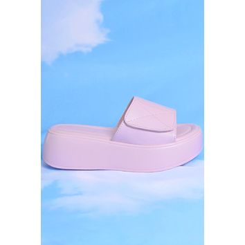Life of Leisure Platform Velcro Slides - Bubblegum