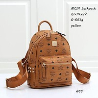 MCM Small Schoolbag Backpack Daypack with Full Letters bag School bag