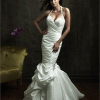 Sexy Deep V- neck With Halter Highlight The Curve Glamour Wedding Dress WD1632