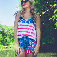 Wave Your Flag Crop Top