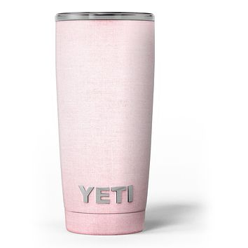 The Pink Ombre Scratched Service - Skin Decal Vinyl Wrap Kit compatible with the Yeti Rambler Cooler Tumbler Cups