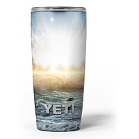 Majestic Sky on Crashing Waves - Skin Decal Vinyl Wrap Kit compatible with the Yeti Rambler Cooler Tumbler Cups