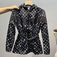 LouisVuitton LV full printed women's trench coat