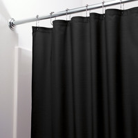 "Heavy Duty Vinyl Shower Curtain with Metal Grommets - 70"" x 72"" (Black)"