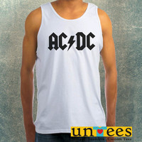 Ac Dc Band Logo Clothing Tank Top For Mens