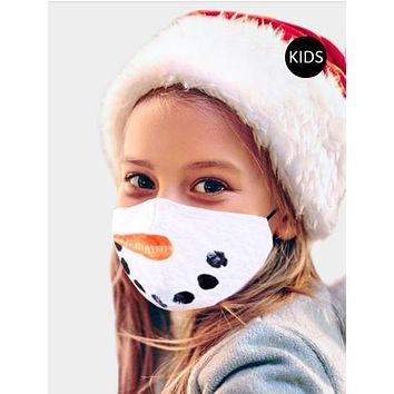 Youth Snowman Face Holiday Protective Fashion Mask