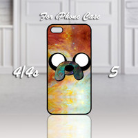 Adventure Time Finn Quote Galaxy Nebula, Design For iPhone 4/4s Case or iPhone 5 Case - Black or White (Option)