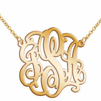 Monogram Necklace Acrylic Mirror