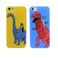 2015 New arrive Fashion Dinosaurs and batman Phone Case Cover For Apple i Phone iPhone 5 5S 5C 6 6 plus