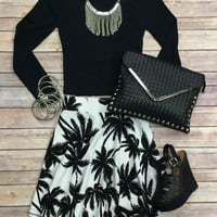 Basic Crop Top: Black