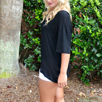 Piko: Knitted Blouse, Black