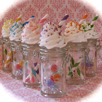 """Fake Cupcake """"Candy Land Jar Collection"""" Set 6 Orig. 12 Legs Concept Perfect Wed/Birthday Favors Stocking Stuffer"""