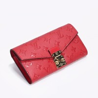 hcxx 2036 Louis Vuitton LV Pochette Metis S-Lock Wallet Red