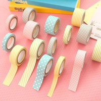5pcs Color Paper Tapes Handmade DIY Decorative Washi Tape Colored Adhesive Tapes free shipping