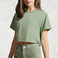 Rolled Hem Crop Top