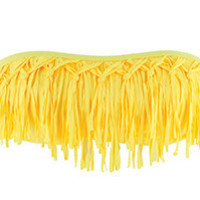 The Girl and The Water - L*Space Swim - Knotted Fringe Bandeau / Daffodil - $86
