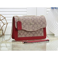 COACH fashion lady Mosaic color printing casual shoulder shopping bag #2