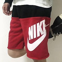 NIKE 2018 summer new breathable wear-resistant sweatpants F-BL-YD Black+Red
