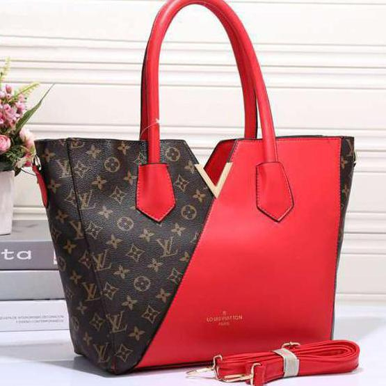 Image of Perfect Louis Vuitton LV Women Shopping Leather Tote Crossbody Satchel Shoulder Bag