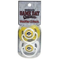 Iowa Hawkeyes 2 Pack Pacifiers Newborn Baby Infant Team Colors