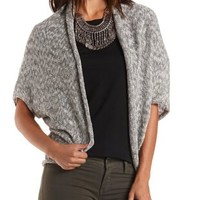 Combo Marled Cocoon Cardigan Sweater by Charlotte Russe