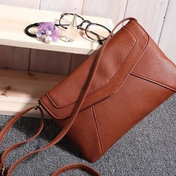 Fashion Small Leather Envelope Bags Women's Messenger Bag Shoulder Crossbody Bag Vintage Clutch Bag satchels [8921713671]