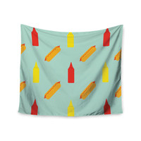 """Will Wild """"Hot Dog Pattern"""" Food Wall Tapestry"""