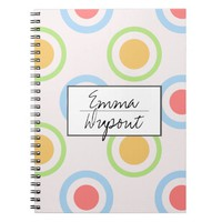 Funky Colorful Circles Pattern Note Book