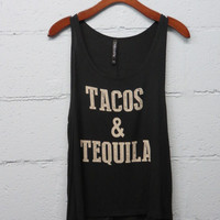 ****NEW*** Tacos And Tequila Tank Black