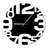 Wall Clock black and white clock home decoration wall art bedroom living room office clock