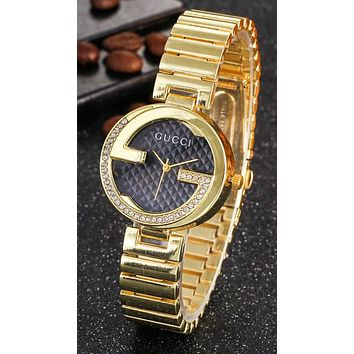 Gucci Ladies Rectangular diamond Watch Wrist Watch