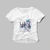 let's get lost graphic tee