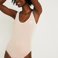 adidas Originals 3-Stripes Pink Bodysuit | Urban Outfitters