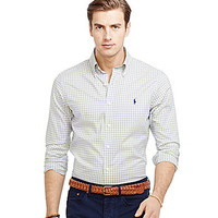 Polo Ralph Lauren Slim-Fit Checked Oxford Shirt - Yellow Check