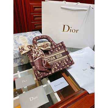 Dior Women Leather Shoulder Bag Satchel Tote Bag Handbag Shopping Leather Tote Crossbody Satchel Shouder Bag
