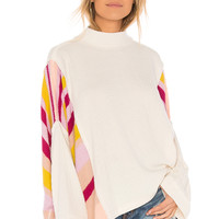 Free People Susie Swit Pullover Sweater in Cream