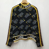 Fendi More Print High Neck Sweatershirt
