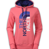 The North Face Trivert Logo Pullover Hoodie for Women in Snowcone Red CZW4-DFT