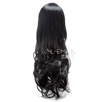 Long cury black cosplay hair wig HS12 - Long Black Wigs Manufacturer, Supplier & Wholesale from China