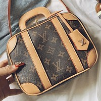 LV New fashion monogram print leather shoulder bag crossbody bag handbag