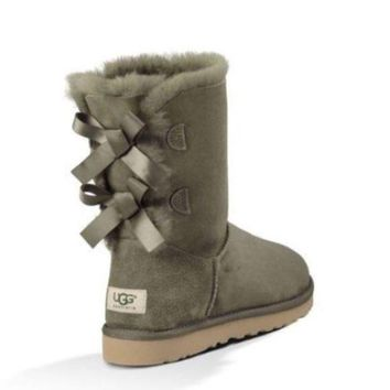 DCCK UGG Bailey bow forest green boots