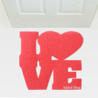 LOVE door mat. Elegant and cool rug for your entrance.