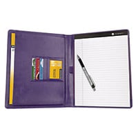 FORAY RightLeft Handed Padfolio Large 9 12 x 12 14 Purple by Office Depot