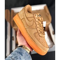 Nike  Air Force 1 AF1 Low Men Women Fashion Casual Running Sports Shoes Sneakers Brown